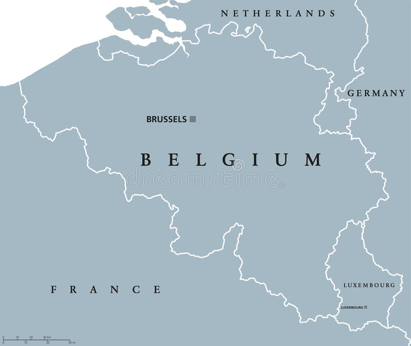 download belgium and luxembourg political map stock vector illustration of land flanders 80038459