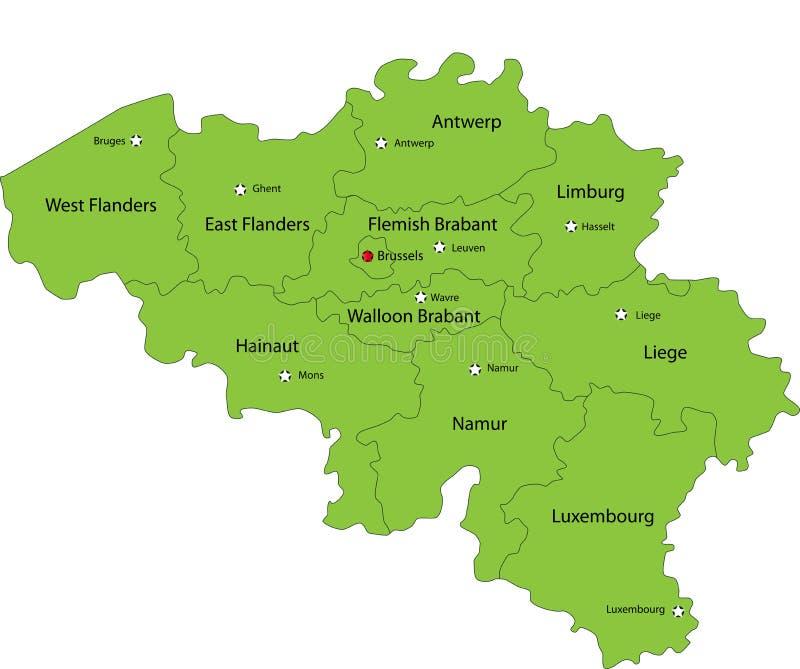 Belgium map stock illustration