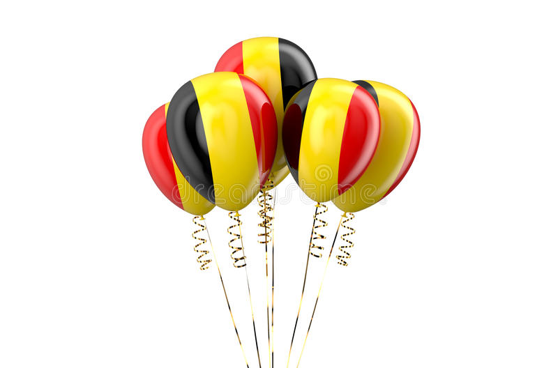 Belgium patriotic balloons, holyday concept. Isolated on white background stock illustration