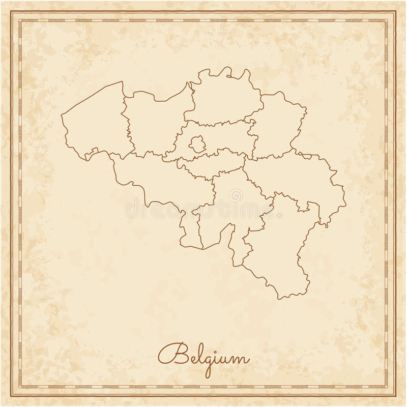 download belgium region map stilyzed old pirate parchment stock vector illustration of europe