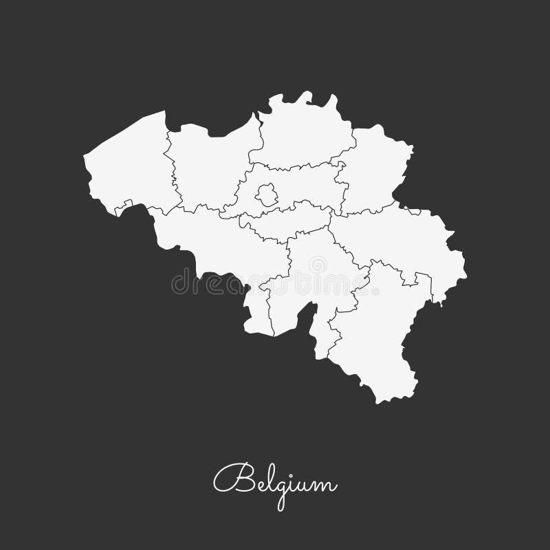 download belgium region map white outline on grey stock vector illustration of belgium