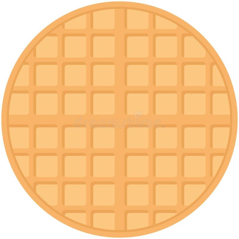 Belgium round waffles, pastel colors on white background. Vector. Illustration royalty free illustration