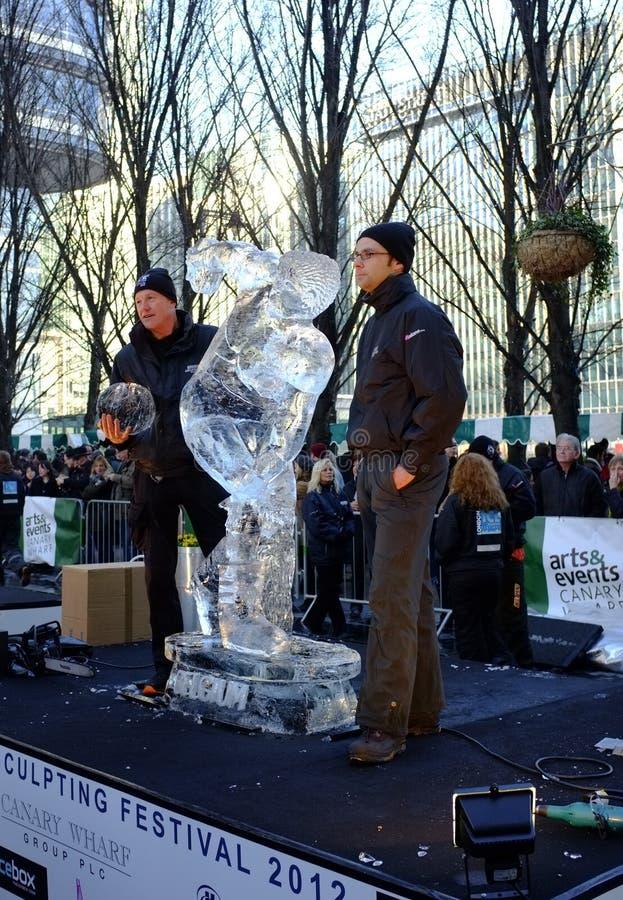 Belgium team at London Ice Sculpture Festival