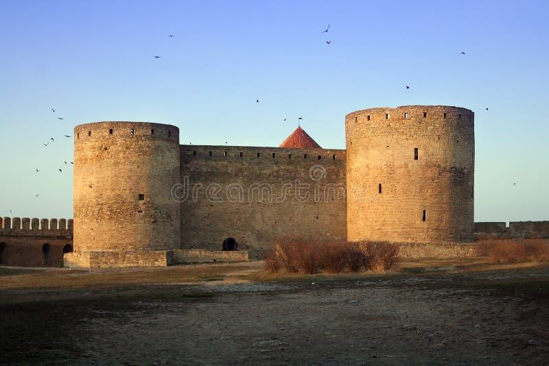 Belgorod Dnestrovskiy castle. In the morning royalty free stock images