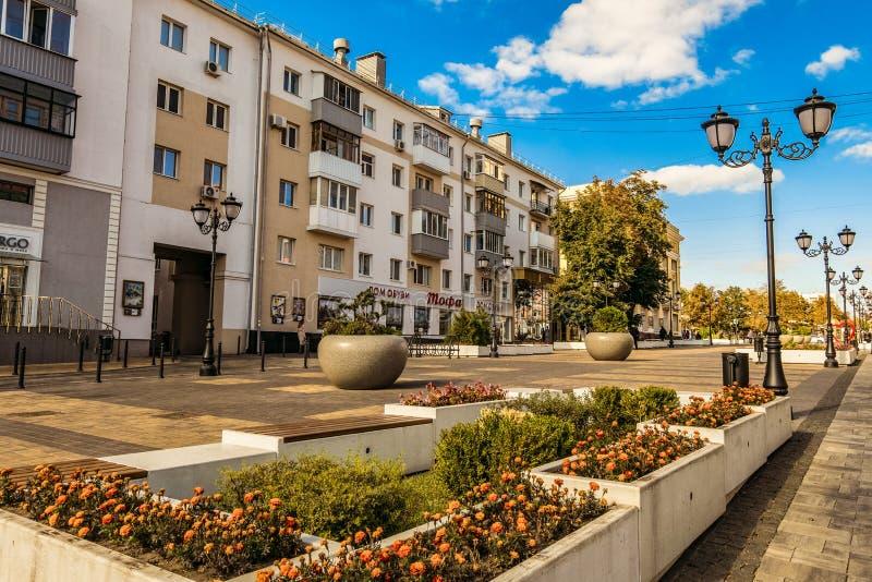 Belgorod, Rosja Ulica fiftieth rocznica Belgorod region obrazy royalty free