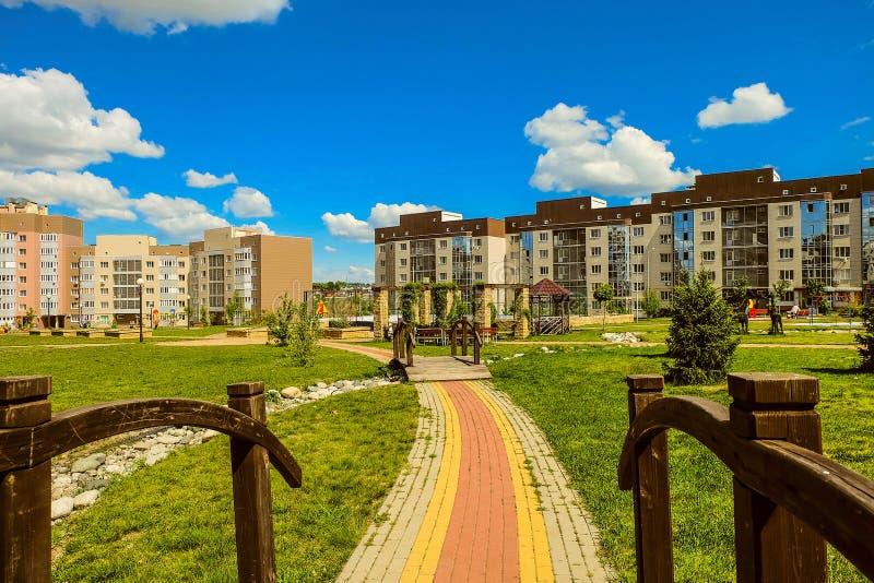 Belgorod, Russia Nuovo ` residenziale Ulitka della vicinanza/` della lumaca fotografie stock libere da diritti