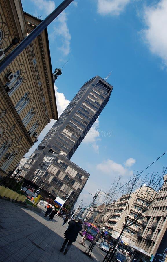 Belgrad-Geschäftszentrum stockfotos