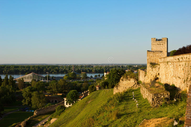 Belgrad-Panoramablick in Richtung zur Donau lizenzfreies stockfoto