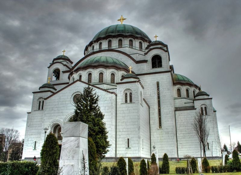 belgrad sava Serbii st świątyni obraz stock