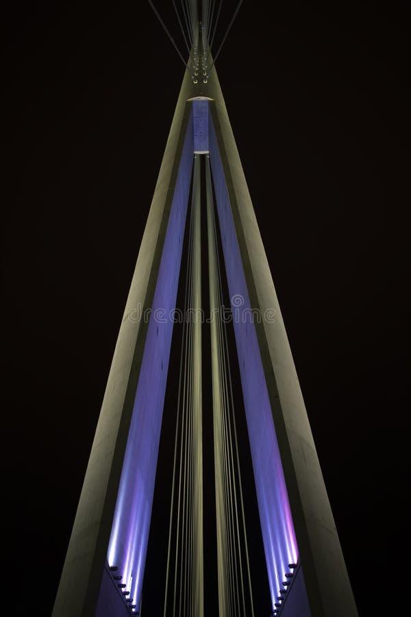 Belgrad Serbien Ada-Brücke der meiste Na Fluglageanzeiger stockbilder