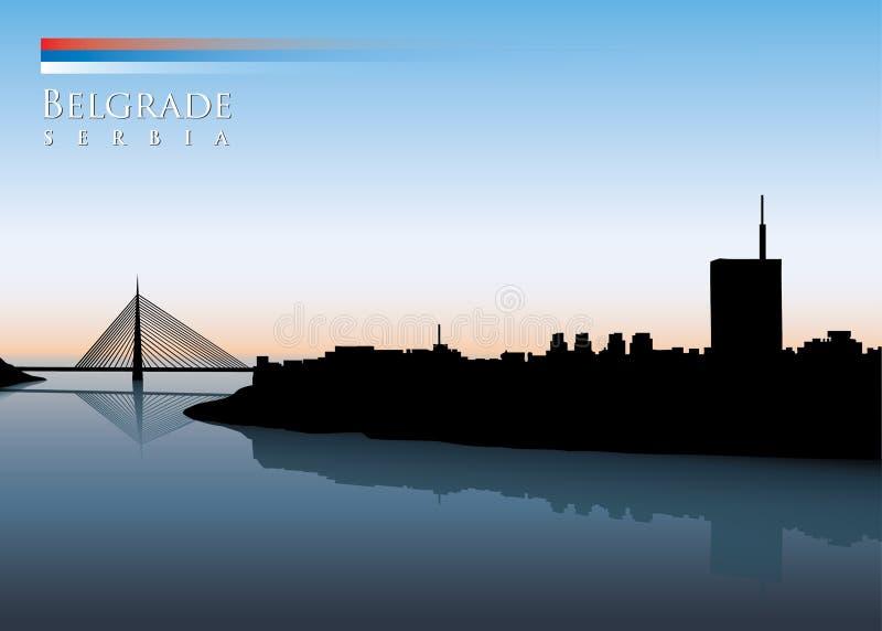 Belgrad-Skyline lizenzfreie abbildung