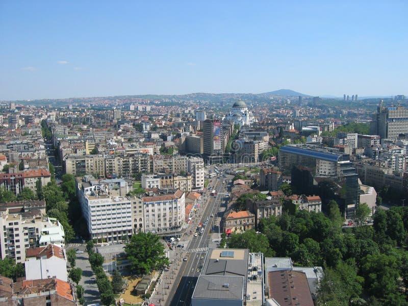 Belgrade à partir de dessus d'anka de ` de BeograÄ photos stock