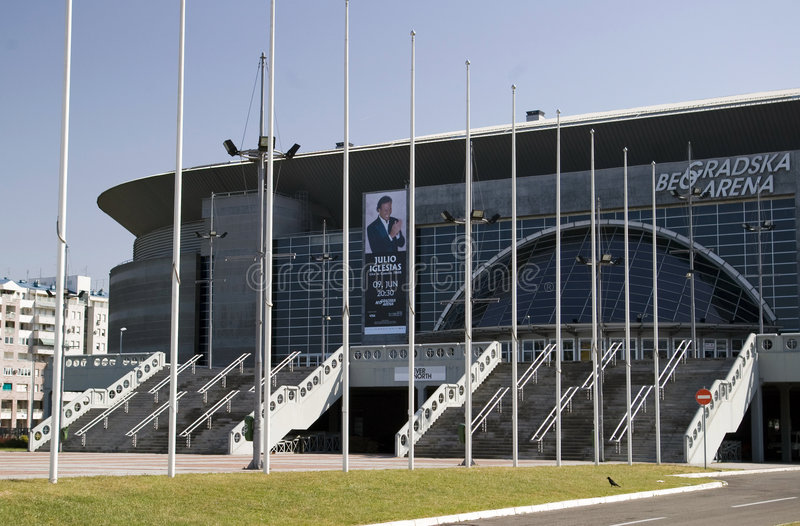 Belgrade Arena. One of the largest European multi functional indoor sport arenas located in Belgrade, Serbia royalty free stock photography