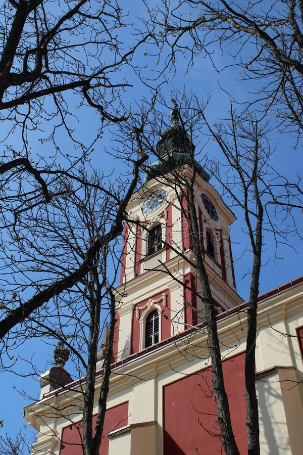 Belgrade basilica in Szentendre. Hungary stock photos