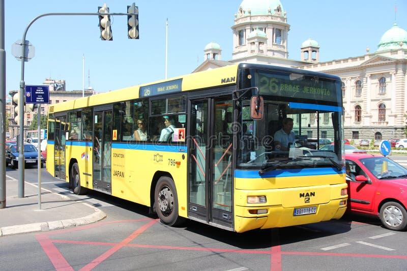 Belgrade buss arkivbild