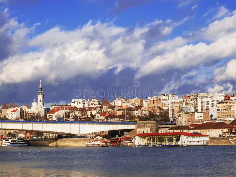 Belgrade city royalty free stock photo