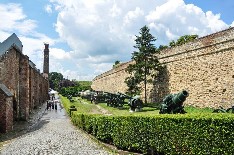 Belgrade fästning Kalemegdan i Serbien royaltyfri foto