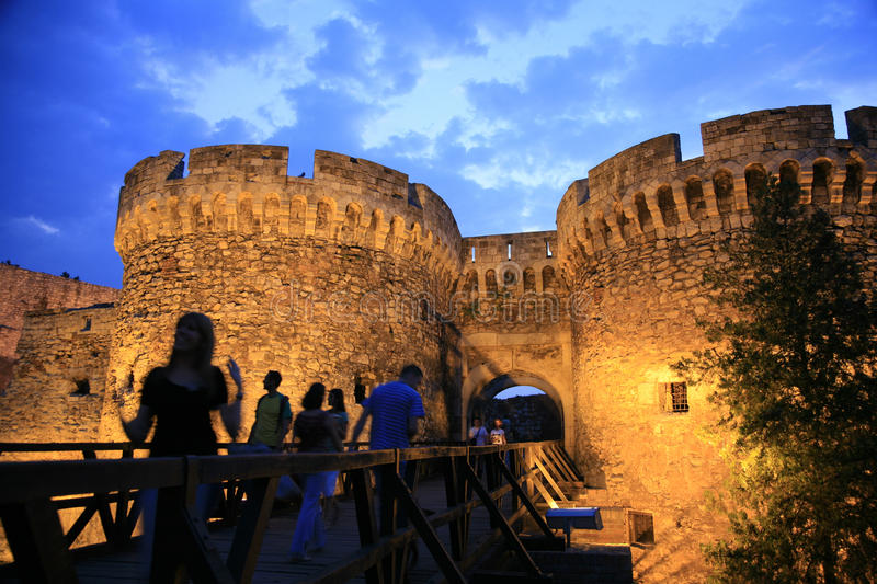 Belgrade Fortress, old citadel and Kalemegdan Park on the confluence of the River Sava and Danube, in Belgrade (capital city) of stock images