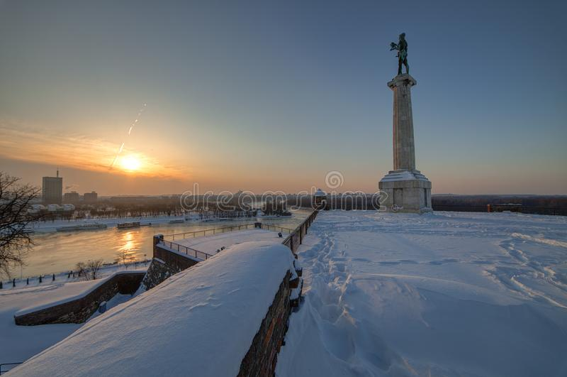 Belgrade Monument `Victor` stock photos