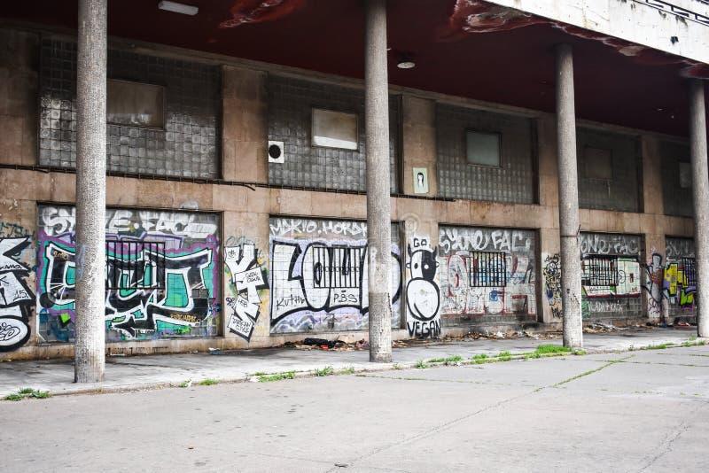 Belgrade, Novi Sad / Serbia - 06 05 2019: Seria street art. stock photography