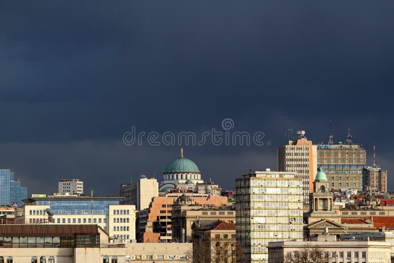 Belgrade panorama royaltyfri bild