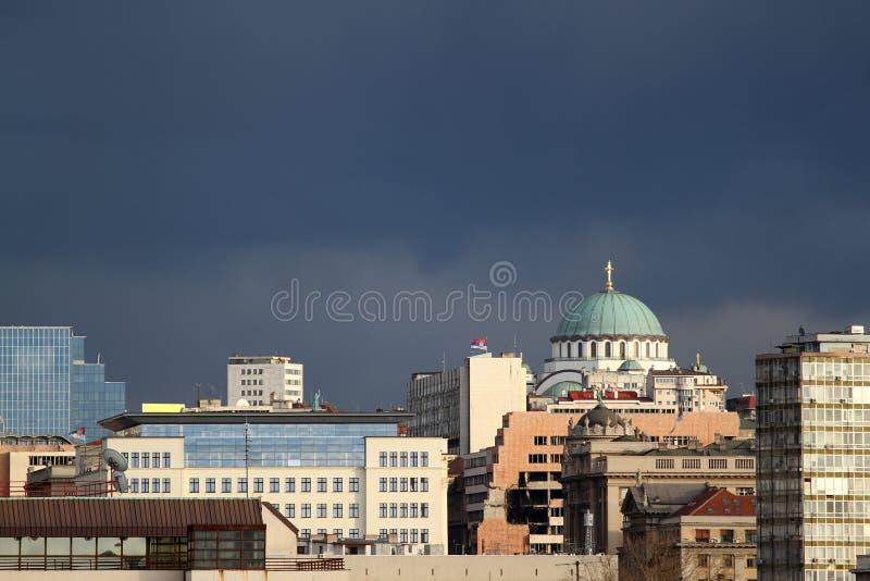 Belgrade panorama arkivbild