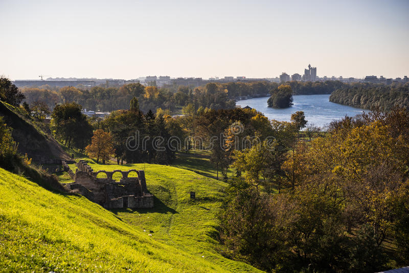 Belgrade rzeki fotografia royalty free