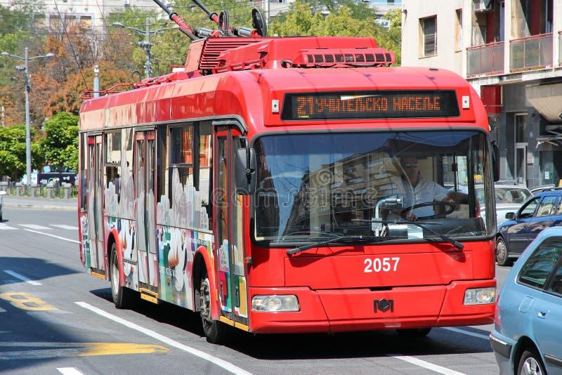 Belgrade trolleybus arkivbild