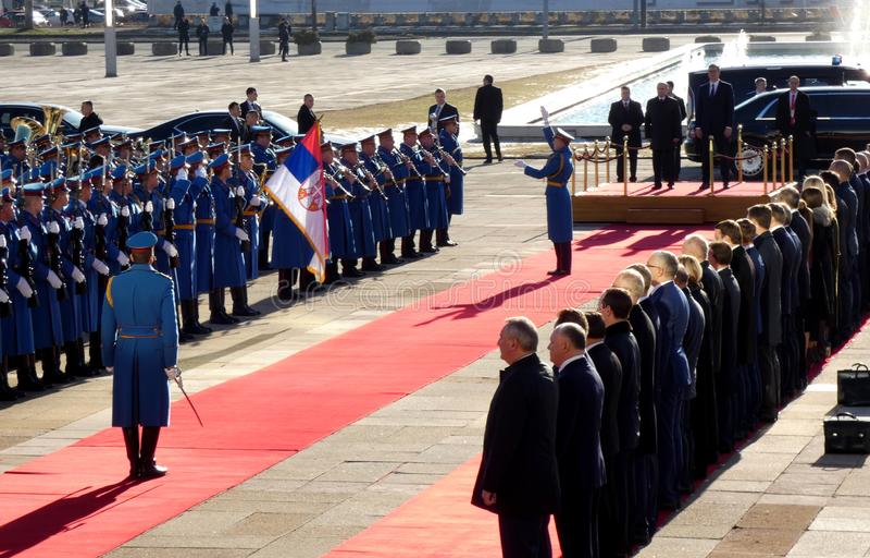 Belgrade, Serbia. January 17th 2019. President of Russian Federation, Vladimir Putin in official visit to Belgrade, Serbia. stock photo