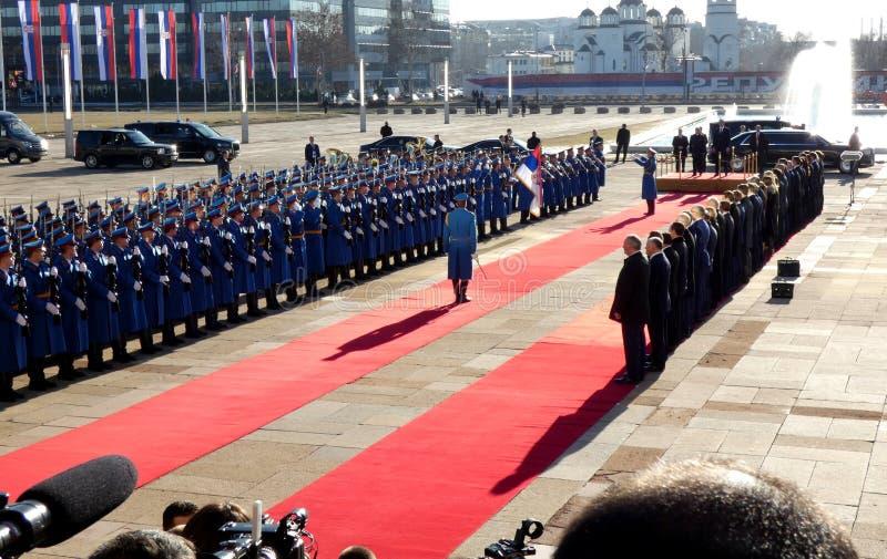 Belgrade, Serbia. January 17th 2019. President of Russian Federation, Vladimir Putin in official visit to Belgrade, Serbia. stock image