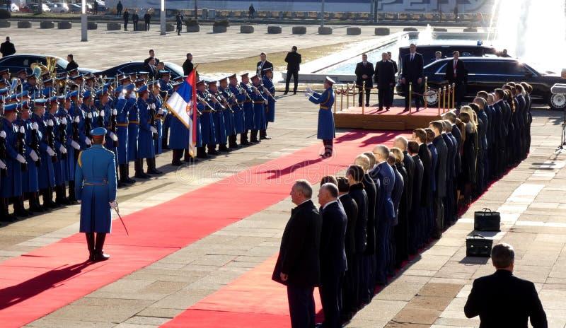 Belgrade, Serbia. January 17th 2019. President of Russian Federation, Vladimir Putin in official visit to Belgrade, Serbia. royalty free stock photo