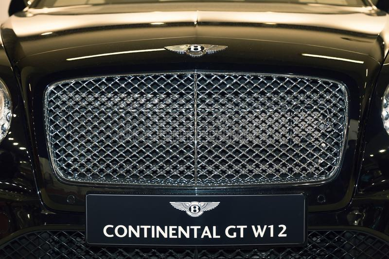 Front of Bentley Continental GT stock image