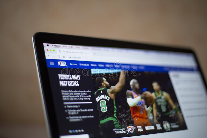 NBA web site royalty free stock images