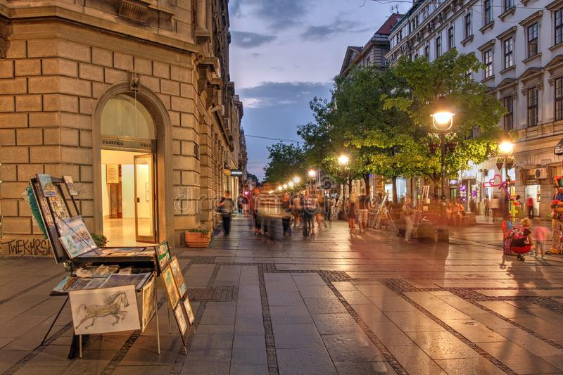 Street scene, Belgrade, Serbia stock photos