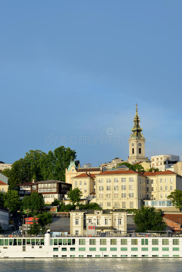 Belgrade, view form the river to the oldest buildings in city ce stock photo