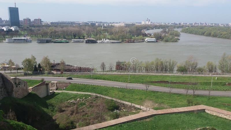 Belgrade wiosny słońca dnia zabawy rzeczny dzień obrazy royalty free