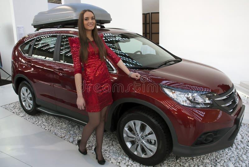 Coche Honda nuevo CR-V imágenes de archivo libres de regalías