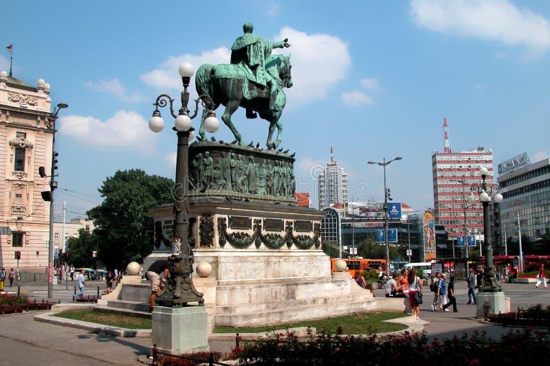 Belgrado het Vierkant van de Republiek stock fotografie