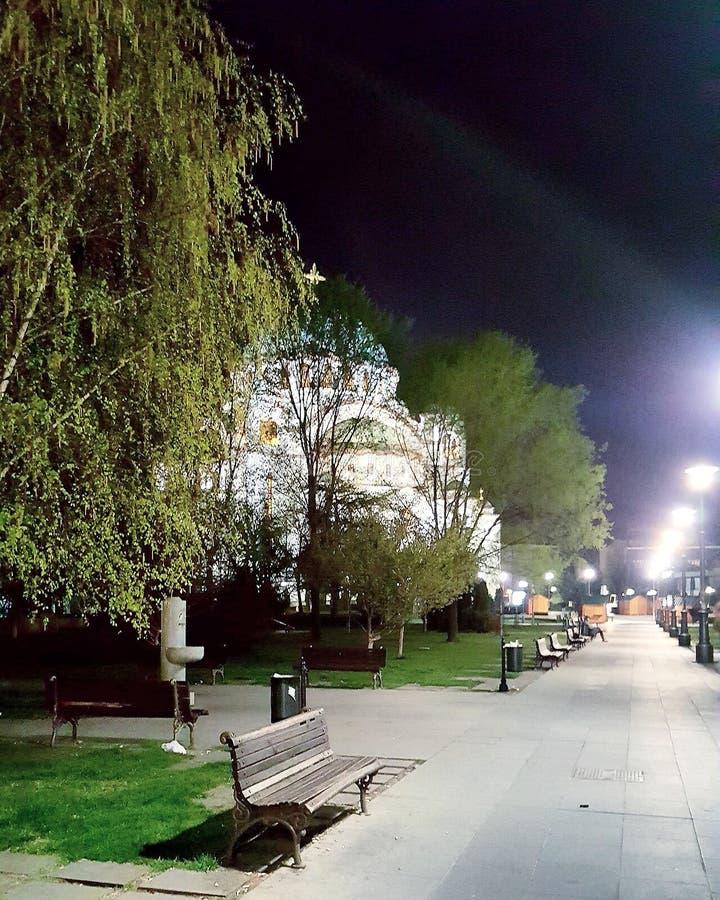 Belgrado mágica en la noche imagen de archivo libre de regalías