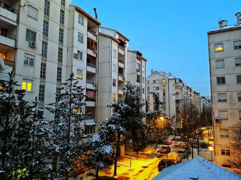 Belgrado prima della notte immagine stock