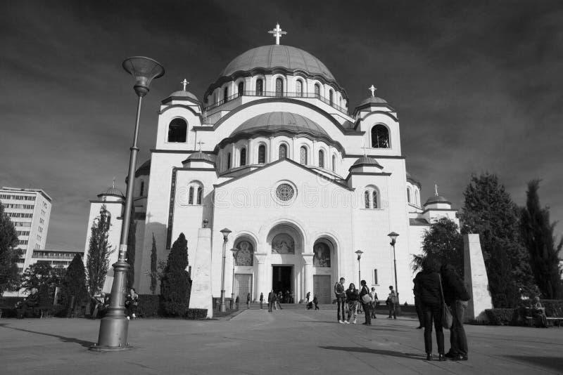 Belgrado, Sérvia - 12 de outubro de 2013: Igreja de Saint Sava imagens de stock