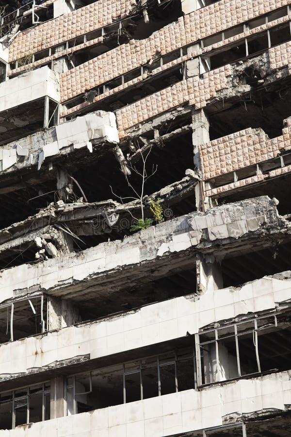 Belgrado, Sérvia - 12 de outubro de 2013: O ministério jugoslavo da construção da defesa foto de stock
