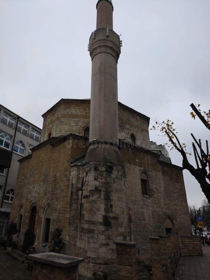 Belgrado Servië Centrum van de Bajrakli-moskee stock foto
