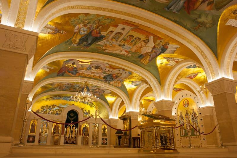 Belgrado, Servië - Oktober 24, 2017: De Orthodoxe Serviër stock foto's