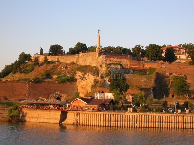Belgrado in zonsondergang colores 4 royalty-vrije stock afbeelding