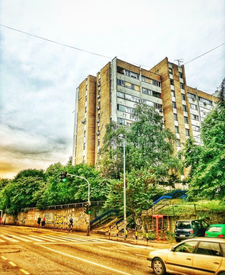 Belgrado, Zvezdara, Mirijevo fotografia stock libera da diritti