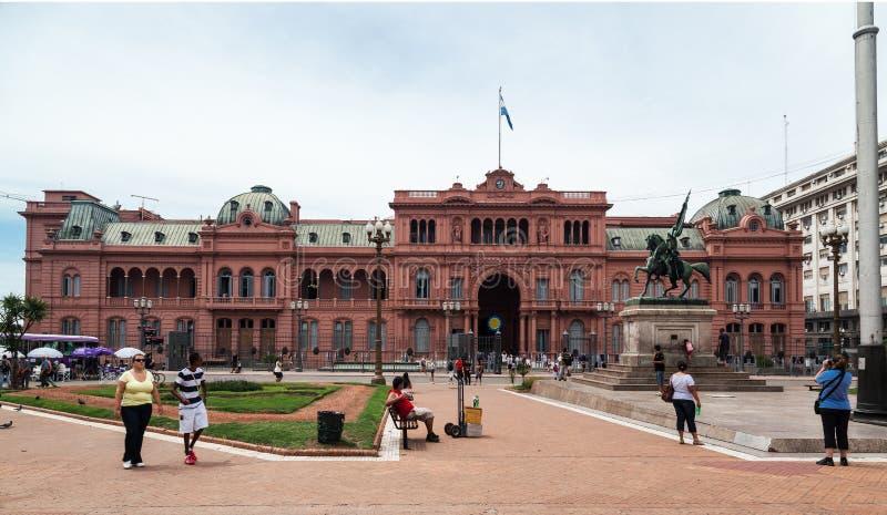 Belgrano Algemene Casa Rosada Argentinië stock foto's