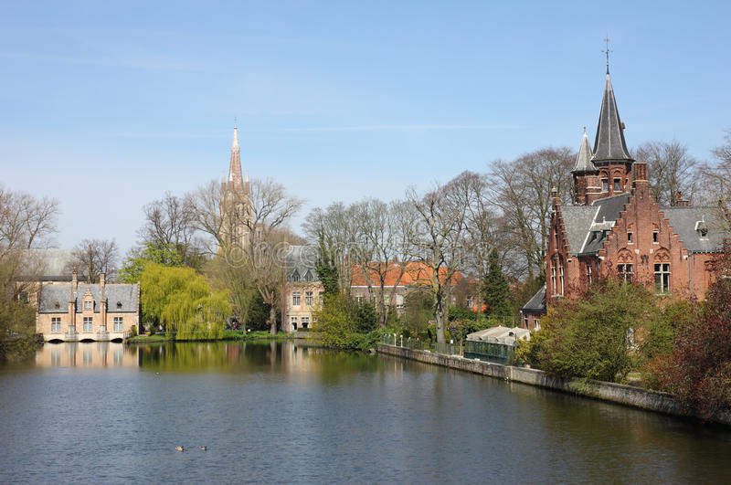 belguim Bruges minnewater obrazy royalty free