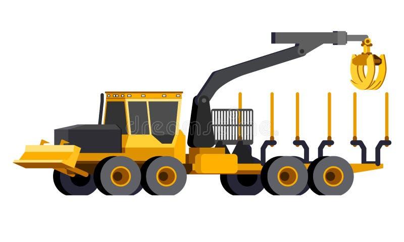 Beli forwarder pojazd ilustracji