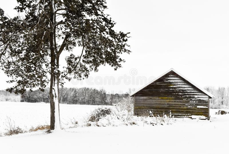 Beli kabina w zimy krainie cudów obrazy royalty free